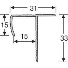 Алюминий ,профиль для плитки  2,7 м, универсальный лестничный , шт.