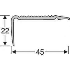 Алюминий , лестничный профиль 45*22 мм, 0,9 м,  шт.