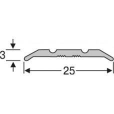 Алюминий , рифленый  порог  25 мм на 0,9 м, одноуровневый, шт.