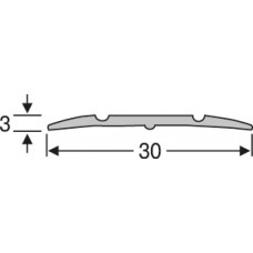 Алюминий , рифленый  порог  30 мм на 0,9 м, одноуровневый, шт.