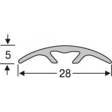 Алюминий , гладкий порог со скрытой системой крепления  28 мм на 0,9 м, одноуровневый, шт.