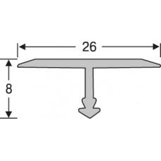 Алюминий ,профиль для плитки 8* 26 мм на 2,7 м,тавровый, шт.