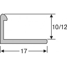 ап10-27 алюминиевый профиль для плитки 10*17мм на 2,7 м, прямой, облицовочный