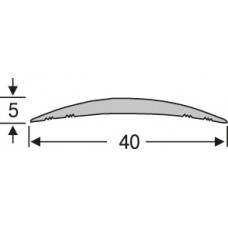 Алюминий , гладкий порог  40 мм на 0,9 м, одноуровневый, шт.