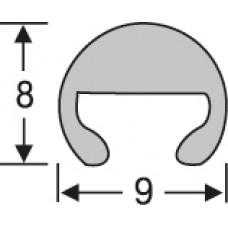 Алюминий , прижимная трубка-ковродержатель 9*8 мм, 2,7 м,  шт.