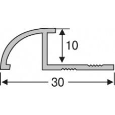 Алюминий ,профиль для плитки  2,7 м, наезжающий, шт.