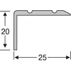 алюминиевый лестничный профиль  ас2018 25*20 мм, 1,8 м