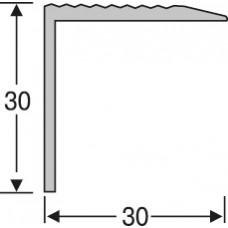 алюминиевый лестничный профиль ас3027 30*30 мм, 2,7 м