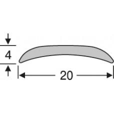 Алюминиевый напольный порог, гладкий ао20г27