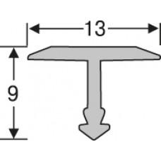 Алюминий ,профиль для плитки 9* 13 мм на 2,7 м,тавровый, шт.