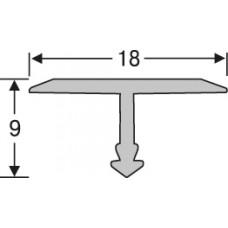 Алюминий ,профиль для плитки 9* 18 мм на 2,7 м,тавровый, шт.