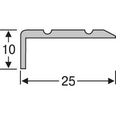 алюминиевый лестничный профиль ас1027 25*10 мм, 2,7 м