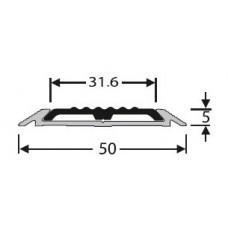 Алюминий , порог с противоскользящей вставкой   50 мм на 2,0 м, одноуровневый, шт.
