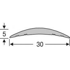 Алюминиевый напольный порог ао30г27, гладкий  30 мм на 2,7 м, одноуровневый, шт.