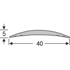 алюминиевый напольный порог ао40г18 ,полукруглый, одноуровневый