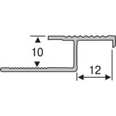 апзр-27 алюминиевый, профиль для плитки  2,7 м, соединительный лестничный