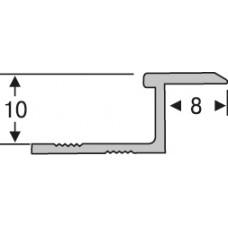 Алюминий ,профиль для плитки  2,7 м, соединительный, шт.